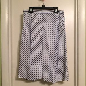 Blue and white striped skirt - size 6